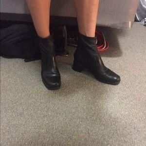 Murano black sock booties